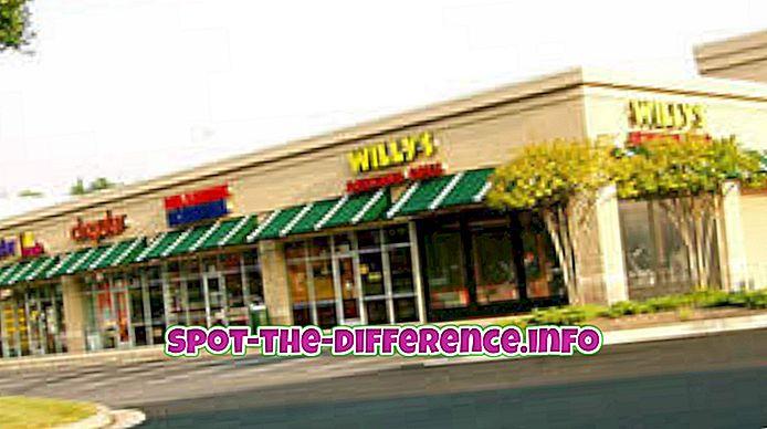 perbedaan antara: Perbedaan antara Pusat Perbelanjaan dan Department Store