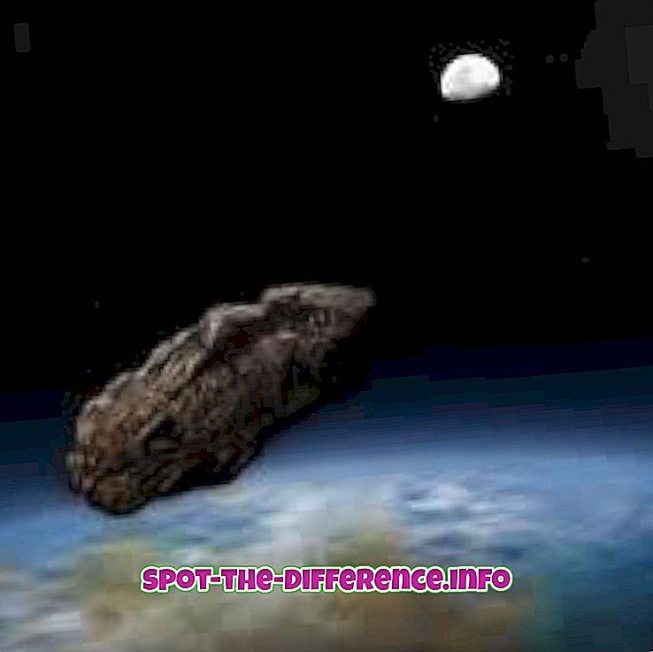 forskjell mellom: Forskjellen mellom meteoroid og meteoritt