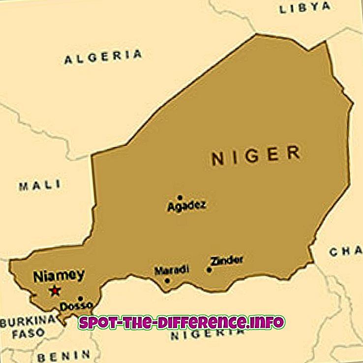 διαφορά μεταξύ: Διαφορά μεταξύ του Νίγηρα και της Νιγηρίας
