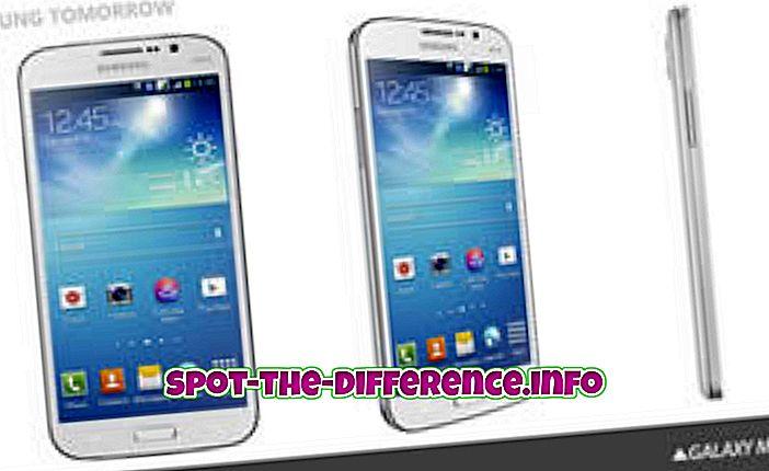ความแตกต่างระหว่าง Samsung Galaxy Mega 5.8 และ iPhone 5