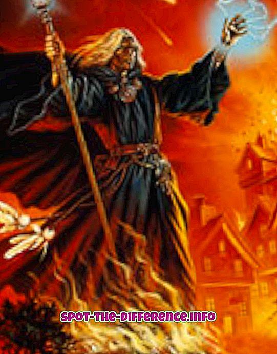 Perbedaan antara Sorcerer dan Wizard