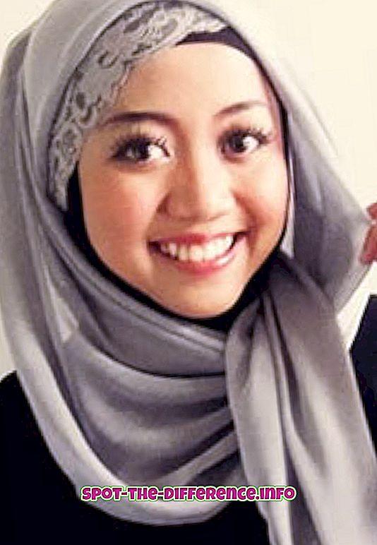 vahe: Erinevus Hijabi ja Burqa vahel