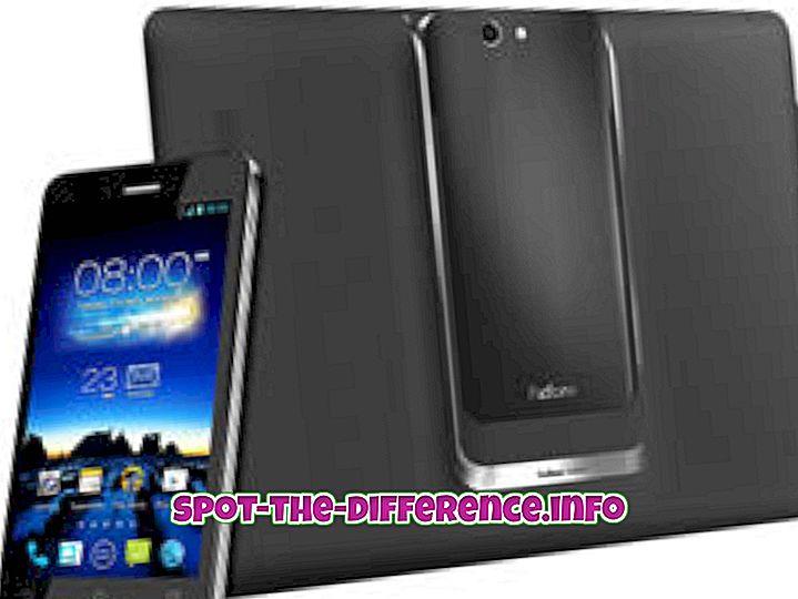 Perbedaan antara Asus PadFone Infinity dan iPhone 5