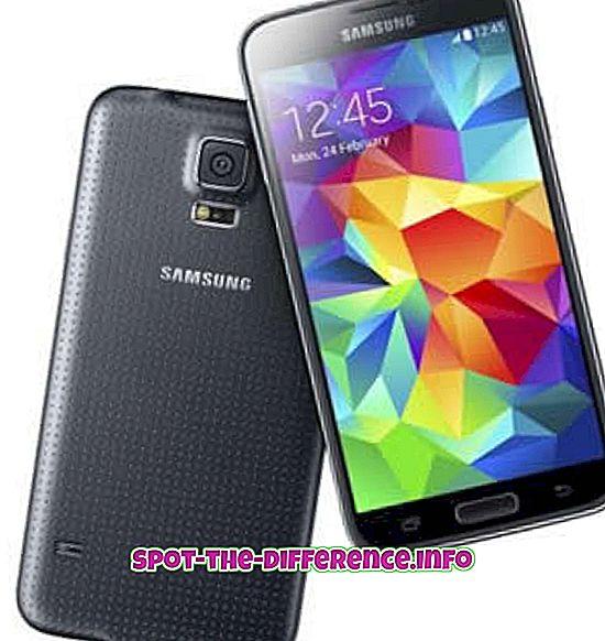 rozdiel medzi: Rozdiel medzi Samsung Galaxy S5 a poznámkou 3