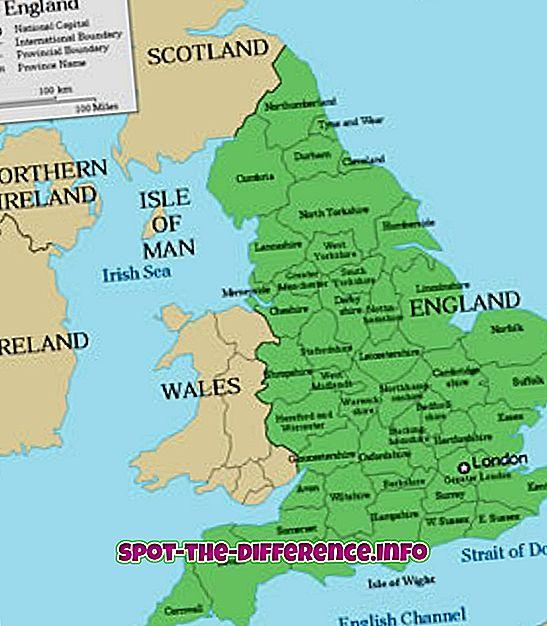 διαφορά μεταξύ: Διαφορά μεταξύ Αγγλίας, Βρετανίας και Ηνωμένου Βασιλείου