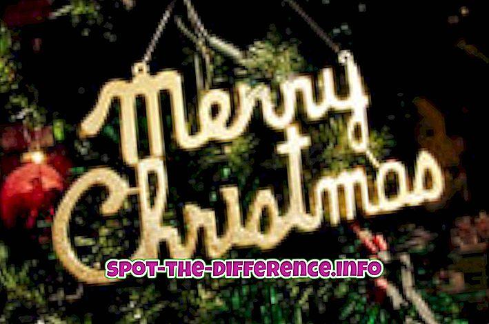 Verschil tussen Kerstmis en Kerstmis