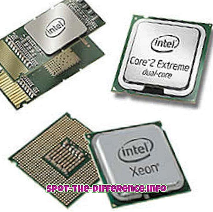 différence entre: Différence entre DSP et processeur à usage général