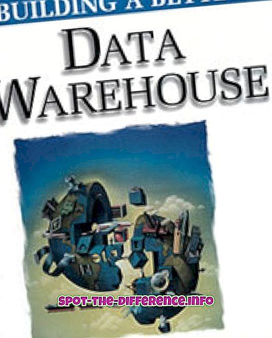 Unterschied zwischen: Unterschied zwischen Data Warehouse und Datenbank