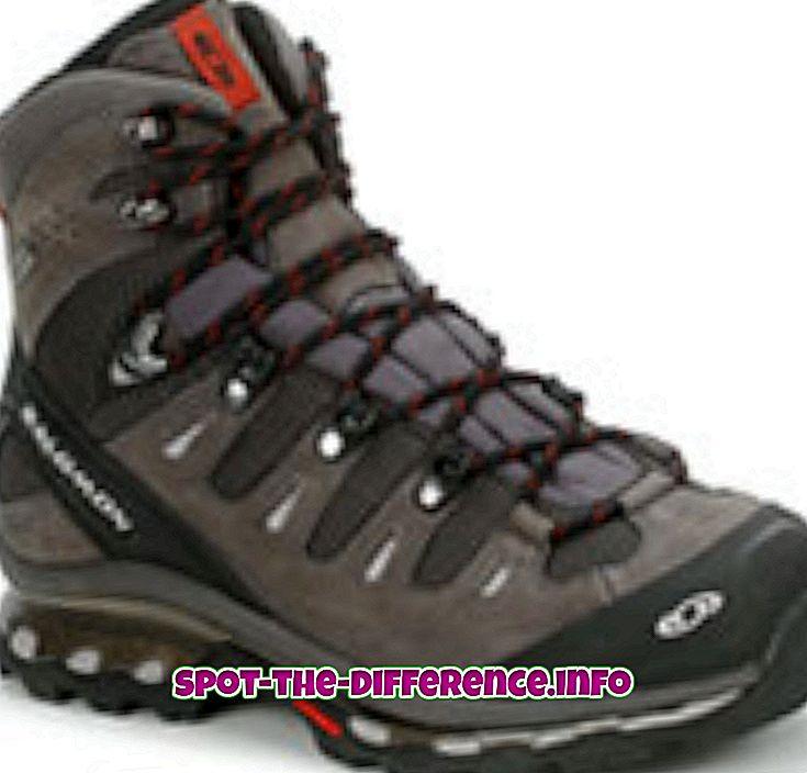 differenza tra: Differenza tra scarponcini da trekking e scarponi da alpinismo