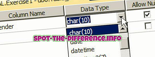 verschil tussen: Verschil tussen Char en Varchar