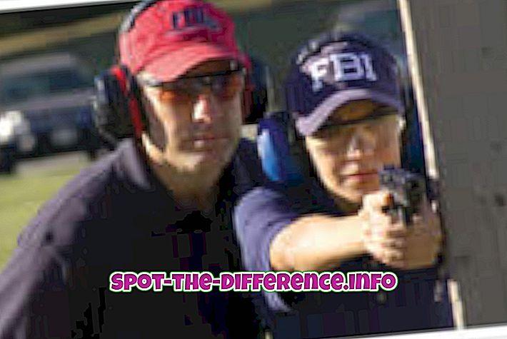 rozdíl mezi: Rozdíl mezi FBI a CIA