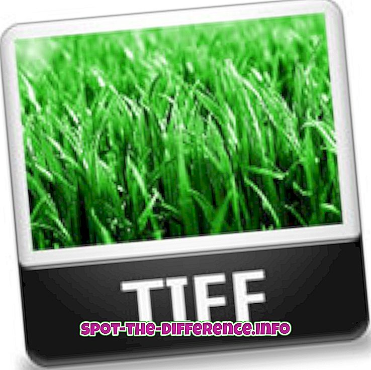Forskjellen mellom TIFF og JPG