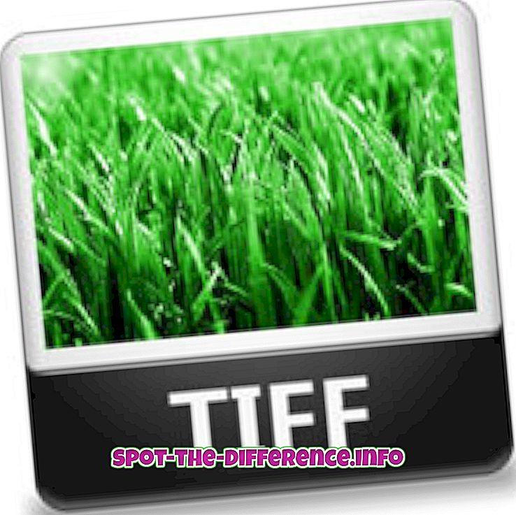 Diferença entre TIFF e JPG
