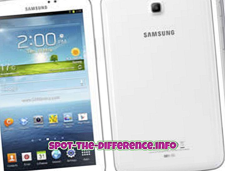 ความแตกต่างระหว่าง: ความแตกต่างระหว่าง Samsung Galaxy Tab 3 7.0 และ Samsung Galaxy Note 8.0