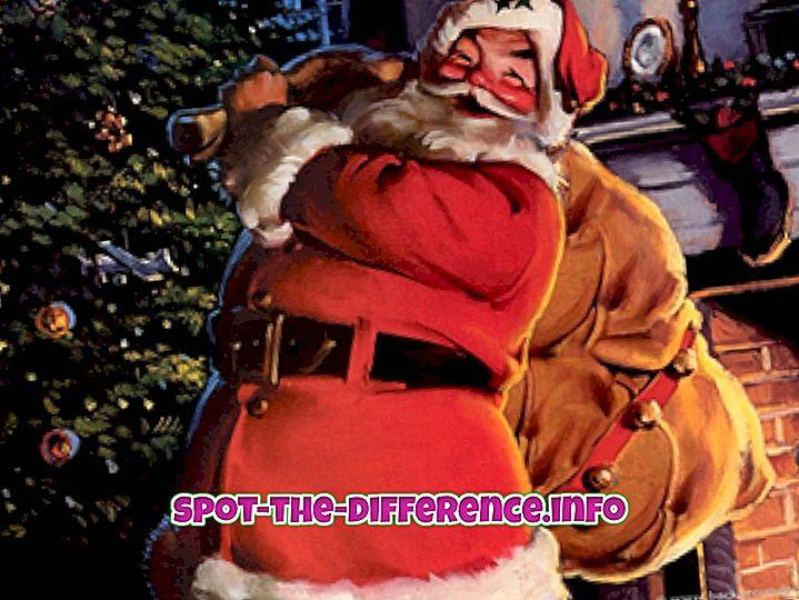 Rozdíl mezi Santa Claus a Otec Vánoce