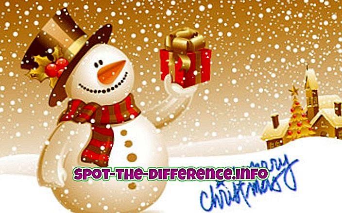 sự khác biệt giữa: Sự khác biệt giữa Giáng sinh, Kwanza và Hannukah