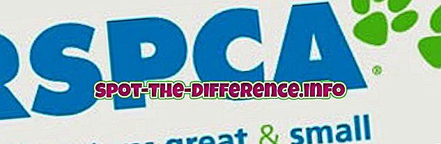 ความแตกต่างระหว่าง RSPCA และ SPCA
