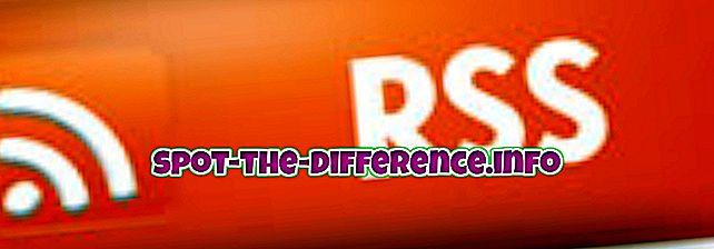 Atšķirība starp RSS un Atom