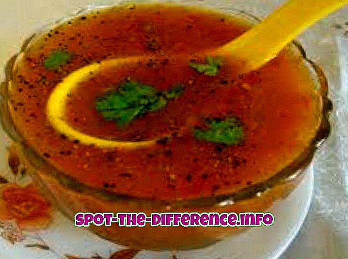 Verschil tussen soep, stoofpot en Shorba