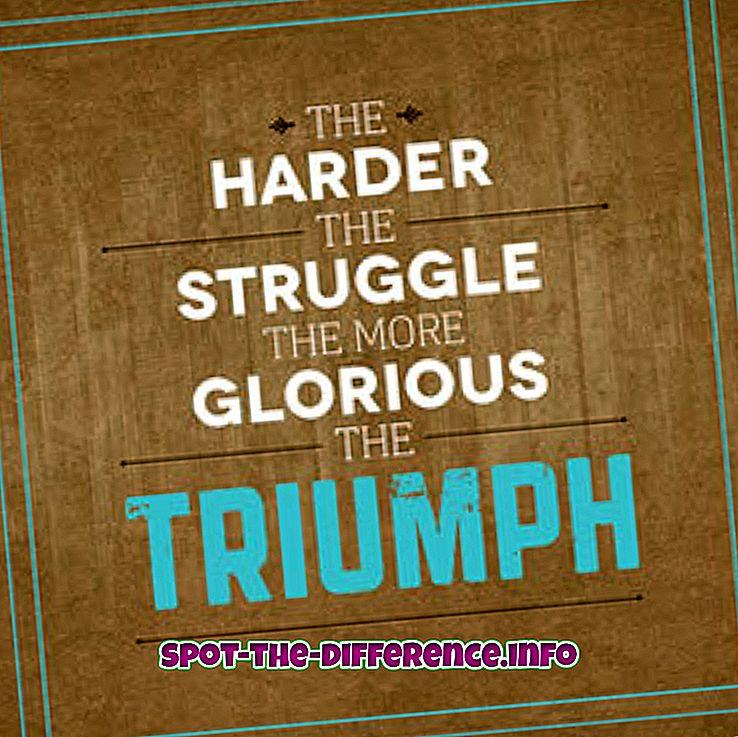Unterschied zwischen Triumph und Sieg