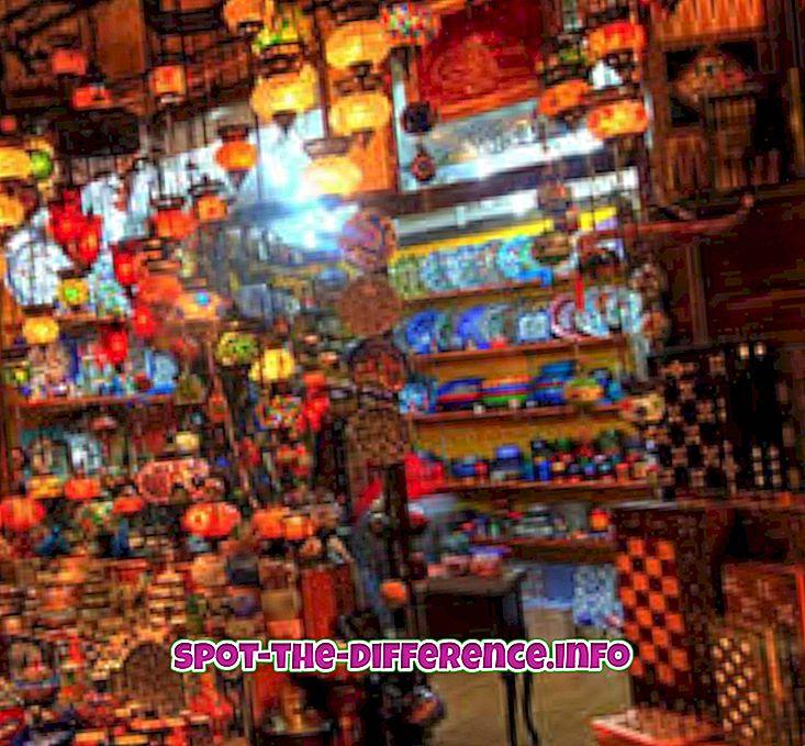 Różnica między bazarem a pchlim targiem