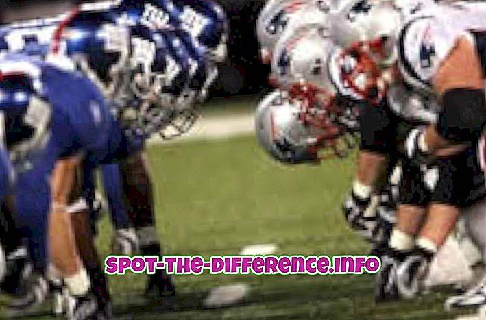 populære sammenligninger: Forskel mellem amerikansk og canadisk fodbold