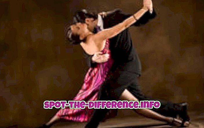 Het verschil tussen Tango en Salsa Dance