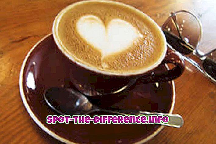 Różnica między Cappuccino i Latte