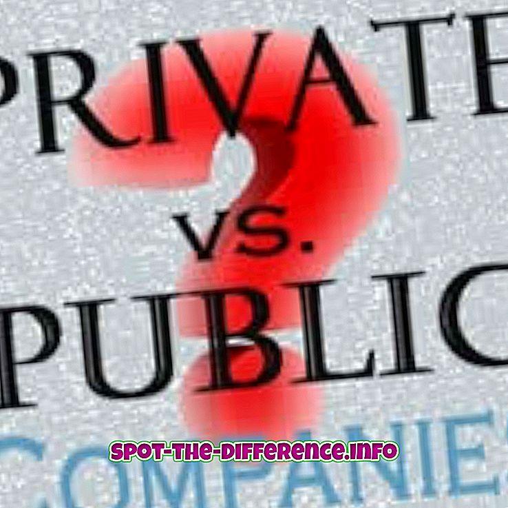 Разлика између јавног и приватног предузећа