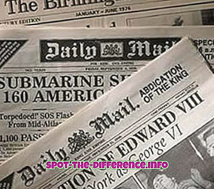 Forskel mellem avis og nyhedsbrev