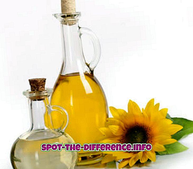 Perbedaan antara Minyak Bunga Matahari dan Minyak Zaitun