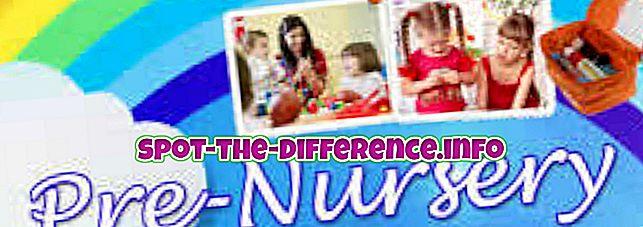 Разлика између расадника и предшколског узраста