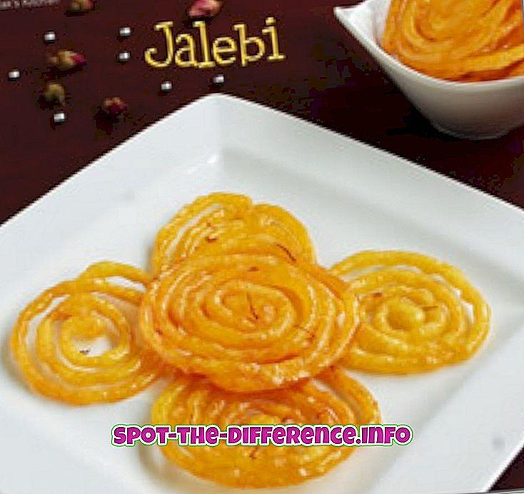 perbandingan populer: Perbedaan antara Jalebi dan Imarti