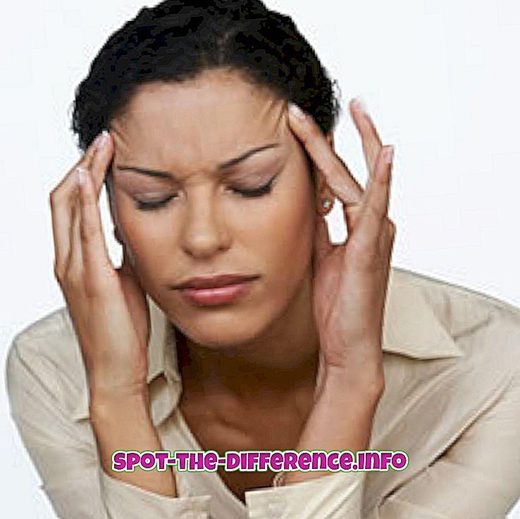 Diferența dintre durerea de cap și migrenă