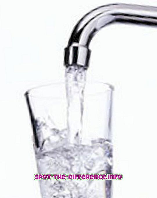 Rozdíl mezi klepnutím a balenou vodou