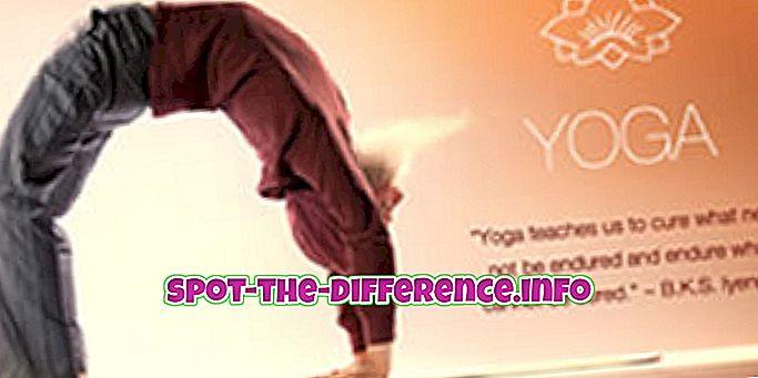 popularne usporedbe: Razlika između joge i teretane
