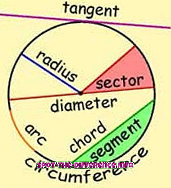 populære sammenligninger: Forskjellen mellom sirkel og sfære