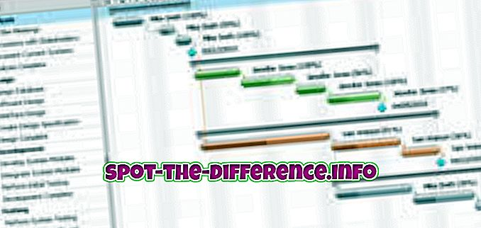 populaire vergelijkingen: Verschil tussen Gantt en PERT-diagram