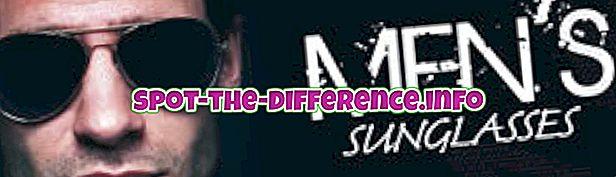 Différence entre les lunettes de soleil pour hommes et pour femmes