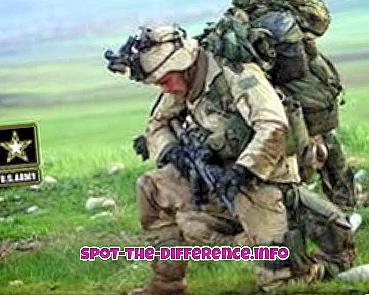 Diferencia entre el ejército y los marines.