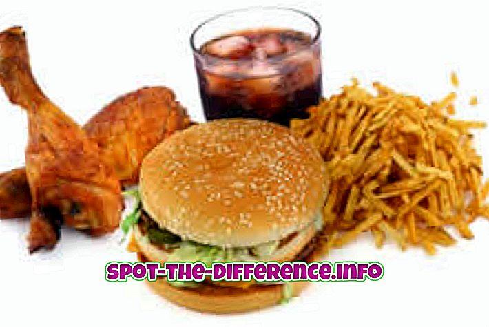 Différence entre les graisses et les glucides