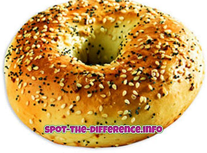 δημοφιλείς συγκρίσεις: Διαφορά μεταξύ Bagel και Donut
