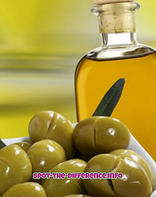populární srovnání: Rozdíl mezi olivovým olejem a mandlovým olejem