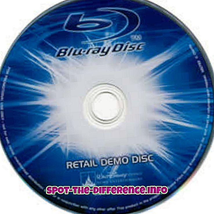 populära jämförelser: Skillnad mellan Blu-ray och DVD