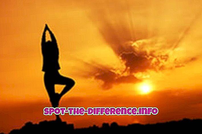 Rozdíl mezi jógou a meditací