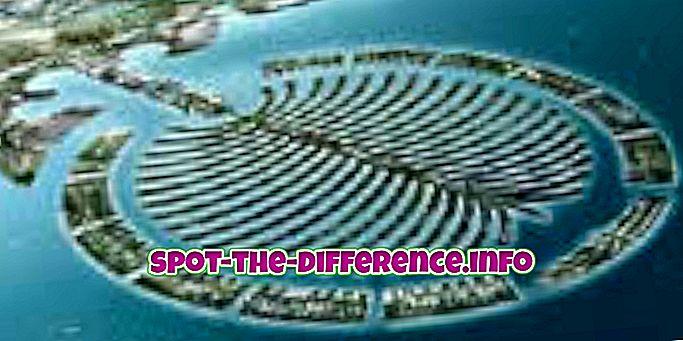 populære sammenligninger: Forskjellen mellom øya og kontinentet