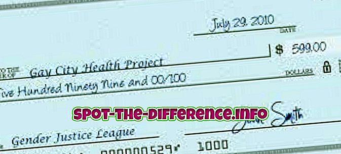 Unterschied zwischen Scheck und elektronischem Scheck