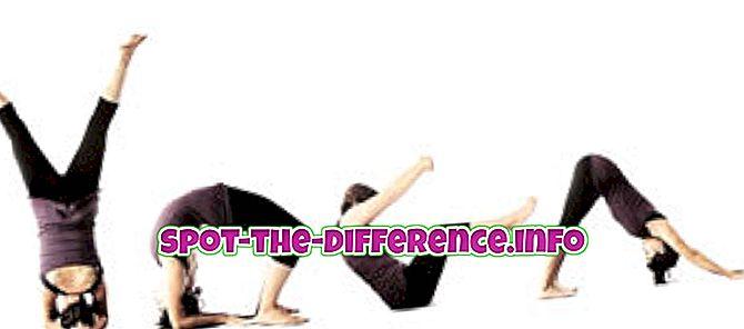 Разлика између јоге и вежбе