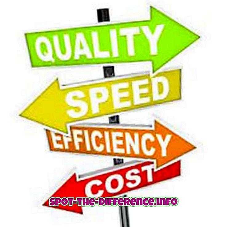 populární srovnání: Rozdíl mezi efektivitou a efektivitou