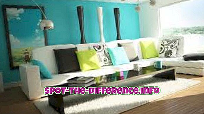 Verschil tussen woonkamer en salon